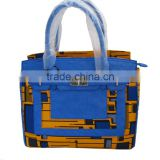 new products African wax print fabric handbags for women