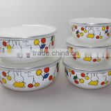 Inquiry about Children's miffy&cherry enamel stainless steel rim ice bowl set