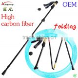 Factory price Adjustable Light weight carbon fiber hiking pole high carbon fiber nodic walking stick