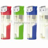 Cigarette Plastic Material Gas Electronic Refilling Lighter With LED Light