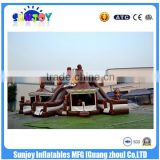 Used Chocolate Theme Indoor Outdoor Inflatable Playground Equipment With Cheap Sale Price