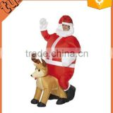 Inflatable Santa Claus Clothes Christmas Costume Father Christmas Suit