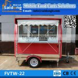 Factory directly supply outdoor mobile food vending cart for sale hot dog trailer