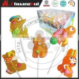 Animals Shape Soft Lollipop / Gummy Lollipop Candy