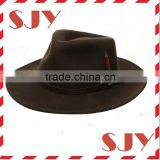 Men's Crushable Felt Vintage Outback Fedora Hat