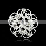 2015 wholesale flower white carat gold fashion jewellery rhinestone fashion pins brooches and pins