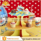 new cute cardboard tiered cupcake stand for party