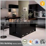 European black high gloss kitchen cabinet door