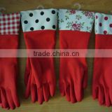Colored long sleeve latex household gloves,disposable dish washing gloves,house cleaning gloves, glove for kitche