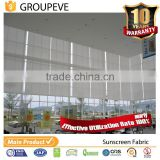 Outdoor Pvc Roller Blinds Sun Protection Fiberglass Cloth Screen Fabric