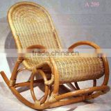 Vietnam Handicrafts PE Rattan Rocking Chair in Village, Thick Solid and Durable Rattan Chair