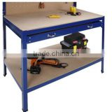 best seller garage workbench of MDF & Metal material with single drawer and peg board