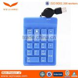 Flexible USB Connected Custom Silicone Number Keyboard for Notebook Laptop PC Manufacturer