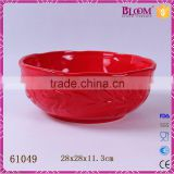 wedding gift tableware for glazed ceramic soup bowl