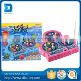 Plastic single-layer battery operated fishing game toys to kids