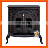 Double Door Wood Burning Cast Iron Stove