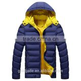 Wholesale 2016 Winter Cotton-padded Black Yellow Sports Down Jackets For Winters Men