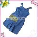 Fashion suspender trousers for girls,lovely overall for childrens,jeans overall for kids