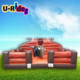 Factory Supplier Inflatable Rodeo Bull Wood Grain Joystick Controlled Mechanical Bull