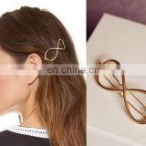 2017 hot selling hair accessories, fashion girl hair pins, gold metal hair pins
