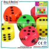 Hot selling low price 25mm cheap plastic different colored dice