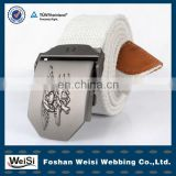"fashionable designer alloy buckle with""big eagle"" custom web belt"