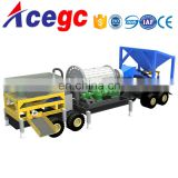 Specialized design mobile rock stone gold grinding and separating machine for sale