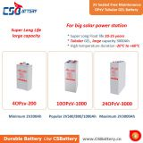 Csbattery 2V600ah Solar Storage Tubular Opzv Gel Battery for Security System/Telecom/Electric Utilities
