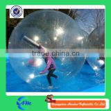 Clear water walking ball 0.8mmPVC bubble ball walk water inflatable water ball for kids and adult