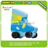 Wholesale Promotional 2D Roller Skate Eraser For Children Education                                                                         Quality Choice