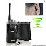 Hidden In Ear Micro Spy earpiece With Super Sneak Walkie talkie Audio Inductive Receiver Kit