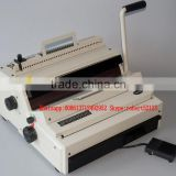 NanBo MT980(990) Office usage cheap Wire Comb Binding Machine, Small Double Wire Binding Machine