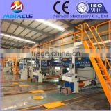 Paperboard corrugated machine, for making corrugated paperboard from corrugated complete line