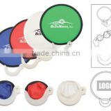 Nylon Foldable Fan Folded into Plastic Handle with Custom Logo Giveways