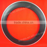 new style Sonata china supplier 700C 80mm carbon alloy clincher 3K matte with aluminum braking surface wholesale