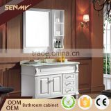 Country Style Bathroom Furniture Oak Solid Wood Bathroom Cabinet                                                                         Quality Choice