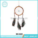 2016 New Arrival Peacock Feathers Wall Hanging Decoration Dream Catcher, Bamboo Ring Wood beads Handmade Lucky Dream Catcher