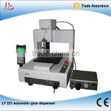 LY 221 automatic glue dispensor 3 axis compatible for mobile frame glue dispensing works 110V/220V