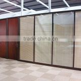 Hot selling wooden partition divider furniture,office glass partition wall with blind curtain ( SZ-WSP364)