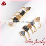 wholesale druzy jewelry fashion smart natural assorted color Brazil agate druzy bangle bracelet                                                                         Quality Choice