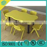 Funny Colorful 6 People Adjustable Kindergarten School Furniture