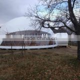 Glamping Geometric dome big steel event dome tent marquee tent pagoda event fabric tent winter tent with factory price