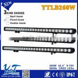 Wholesale 260WLED Light Bar, off road heavy duty, indoor, factory,suv military,agriculture,marine,mining work light
