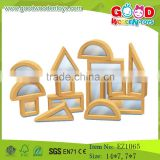 Handmade Natural Mirror Wooden rubber Acrylic Building Blocks