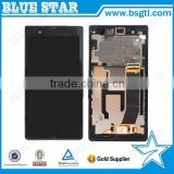 Factory price lcd screen for sony xperia z c6603 c6602 l36h with frame,Accept Paypal !!!