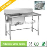 BN-S09/10 Free Standing stainless steel wash basin sink for hotel kitchen