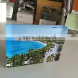 Wholesale clear desktop acrylic photo block/acrylic paper weight