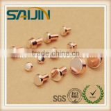 Hot selling special made Electrical Metal contact Rivets/ silver metal contact points / button rivets for relay and switch