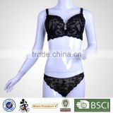 New Design Top Sale Black Lace Big Cup Bra Sets Factory Price