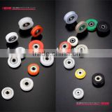 OEM drawing material sizes industry machined nylon pulley wheel plastic pulley with metal bearing